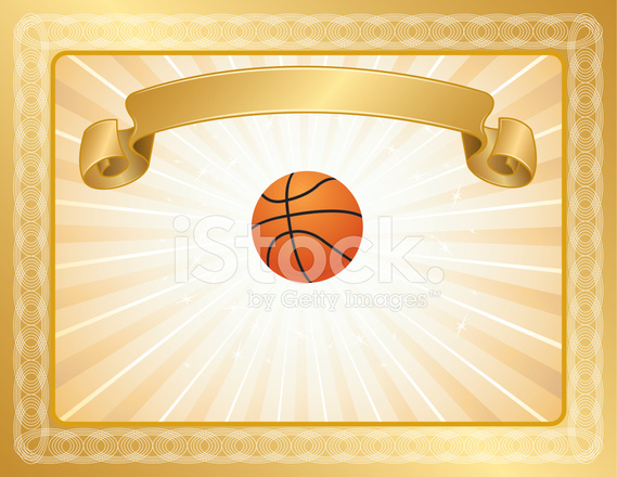 basketball award certificate stock vector freeimages com