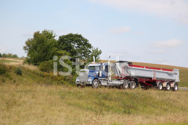 Semi Dump Truck And Trailer Stock Photos Freeimages Com