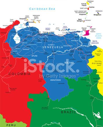 Venezuela Karte Stock Vector - FreeImages.com