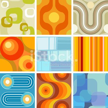 Seamless retro wallpaper tiles stock vector for Mid century modern design principles