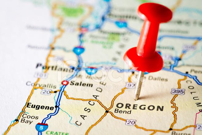 USA Staaten Auf Karte: Oregon Stockfotos - FreeImages.com
