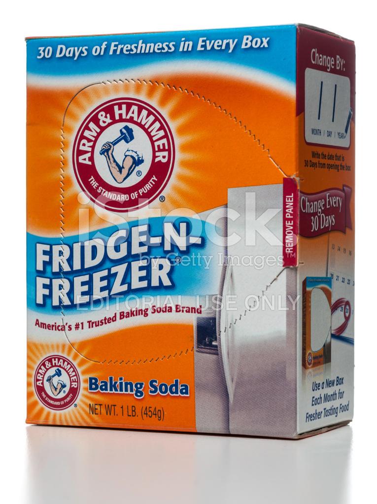 Kühlschrank Geruch arm & hammer baking soda n kühlschrank geruch absorber stockfotos