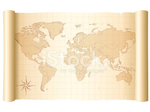 Carte Du Monde Parchemin carte du monde sur parchemin stock vector - freeimages