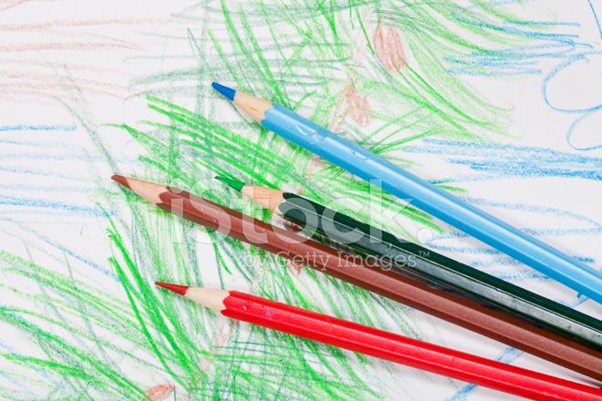 Uitgelezene Kleurpotloden Op Kinderen Tekenen Stockfoto's - FreeImages.com RB-64