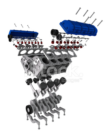 Car Engine Parts Exploded View Stock Photos - FreeImages.com