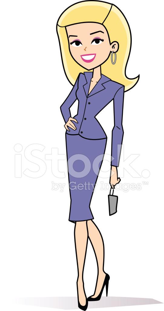 Dibujos Animados Mujer Rubia Retro fotografas de stock