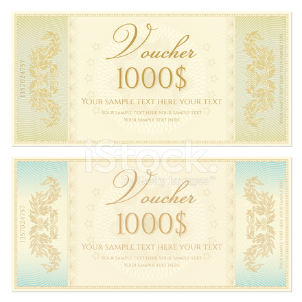 Nice Premium Stock Photo Of Voucher / Coupon / Gift Certificate Template  (banknote, Money, C  Money Voucher Template
