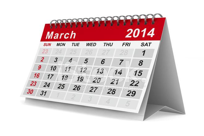 Calendario Anno 2014.Calendario Anno Immagine 3d Isolato Fotografie Stock