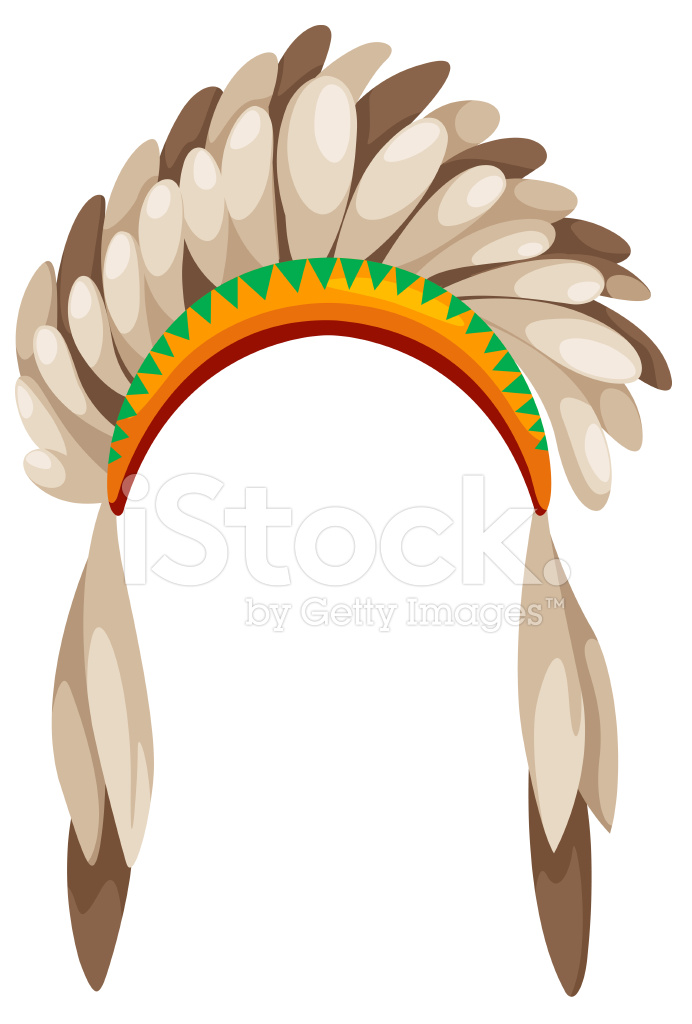 Native American Headdress Stock Vector Freeimagescom