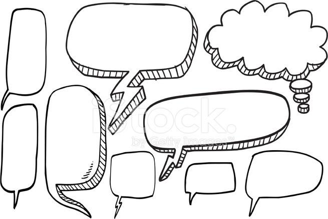 Doodle Speech Bubble Set Stock Vector - FreeImages.com