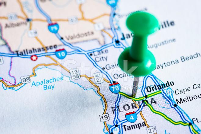 Estados DE Los En Mapa Florida Fotografías De Stock FreeImagescom - Mapa florida usa