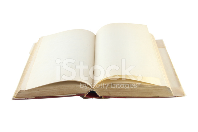 Vieux Livre Blanc Ouvert Vue Laterale Sur Fond Photos