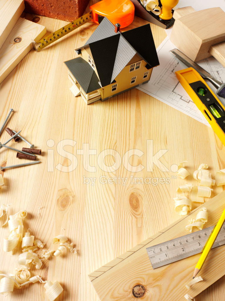 Work Tools and House Framing Copy Space Stock Photos - FreeImages.com