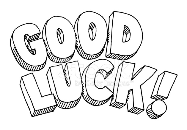 Good Luck Text Drawing Stock Vector FreeImagescom