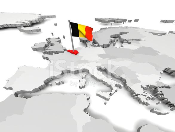 Belgien Auf Der Landkarte Europas Stockfotos - FreeImages.com