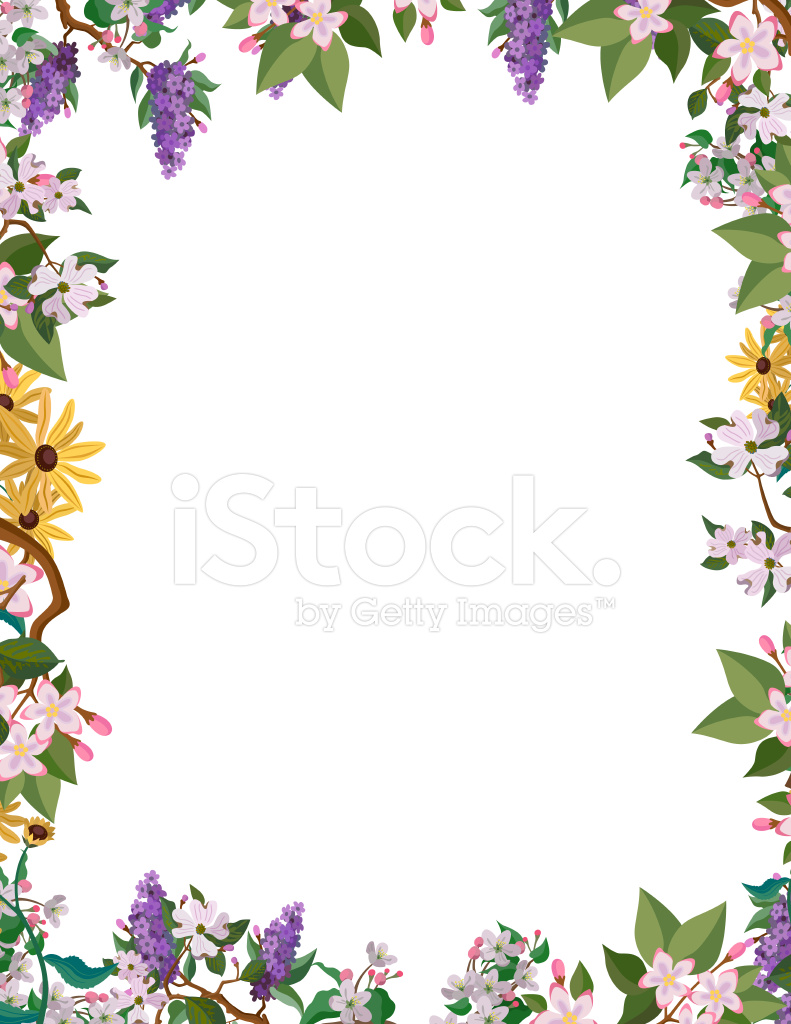 꽃 테두리 프레임 Stock Vector Freeimages Com