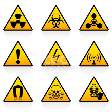 Hazard Symbols Stock Vector Freeimages