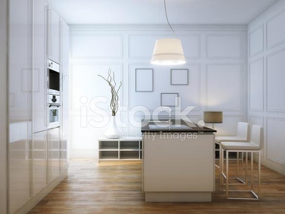 Hi tech witte keuken interieur stockfoto's   freeimages.com