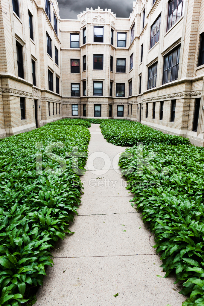 Vintage Apartments In Rogers Park Chicago Stock Photos