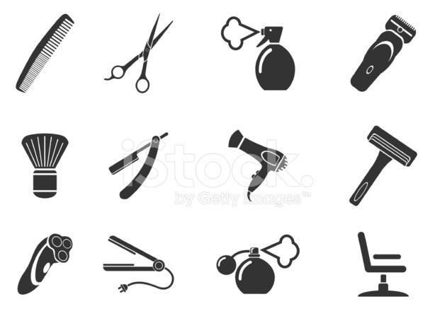 Simboli da saloni di parrucchiere fotografie stock for Simbolo barbiere