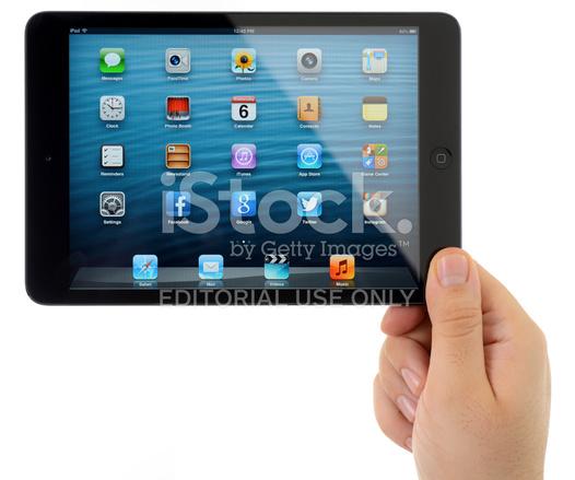 Man Hand Holding Black iPad Mini Stock Photos - FreeImages.com
