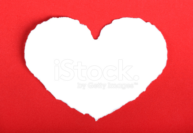 Heart Shape Symbol On Red Paper Stock Photos Freeimages