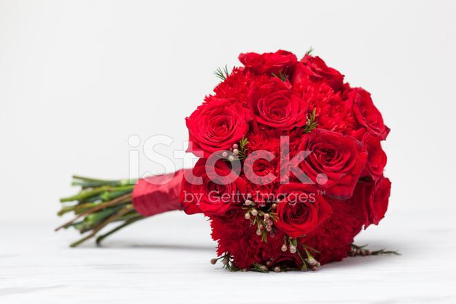 Bouquet Da Sposa Rosso.Bouquet Da Sposa Rosso Fotografie Stock Freeimages Com