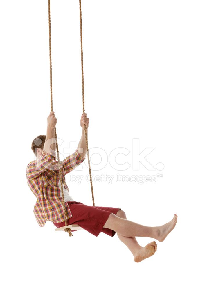 Как связать веревку на качелях