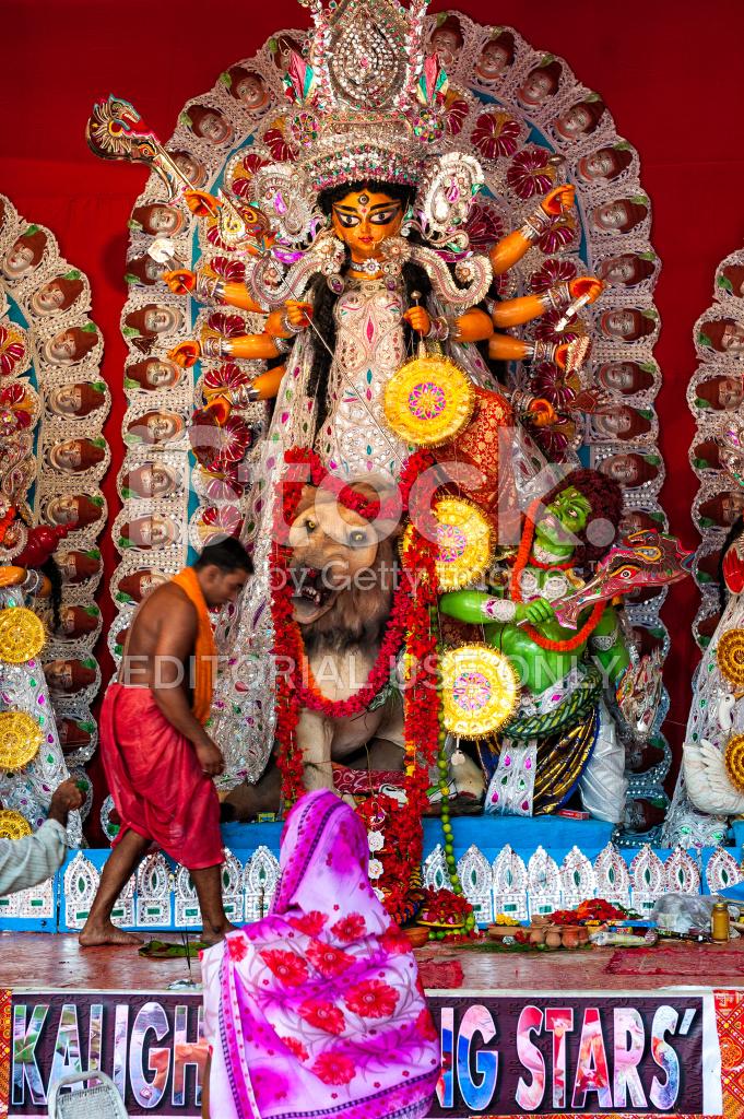 Durga puja a pandal kolkata india stock photos freeimages durga puja a pandal kolkata india altavistaventures Gallery
