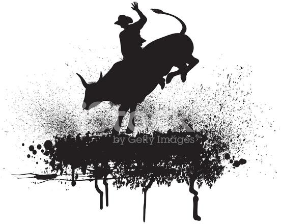 Bull Rider Rodeo Cowboy Stock Vector - FreeImages.com