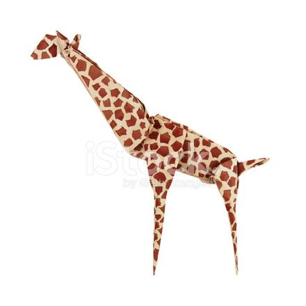 Origami Giraffe Stock Photos