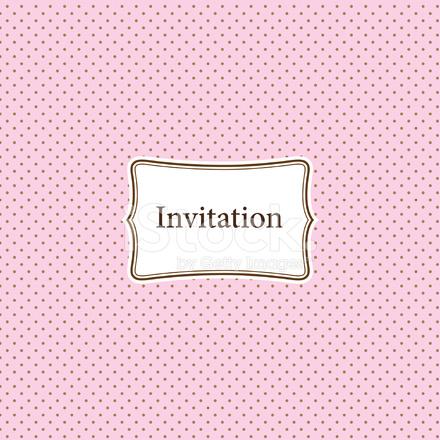 Tarjeta De Invitación Vintage Rosa Stock Vector Freeimages Com