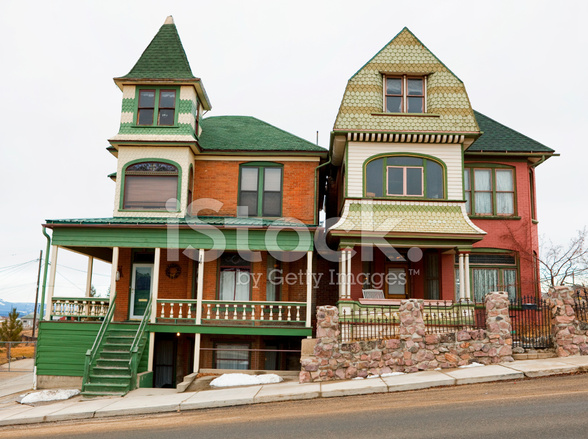 Old victorian homes butte montana stock photos for Residential builders near me