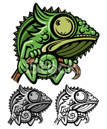 personagem de desenho animado de camaleão stock vector freeimages com