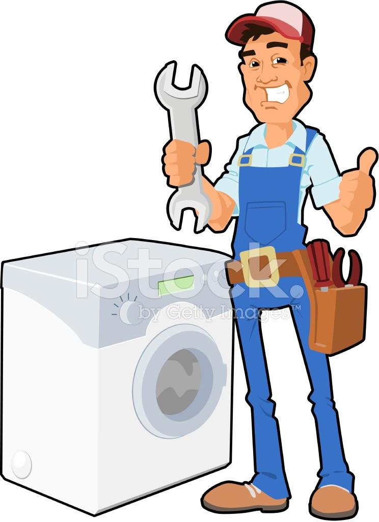 Hombre de reparaci n lavadora stock vector - Fotos de lavadoras ...