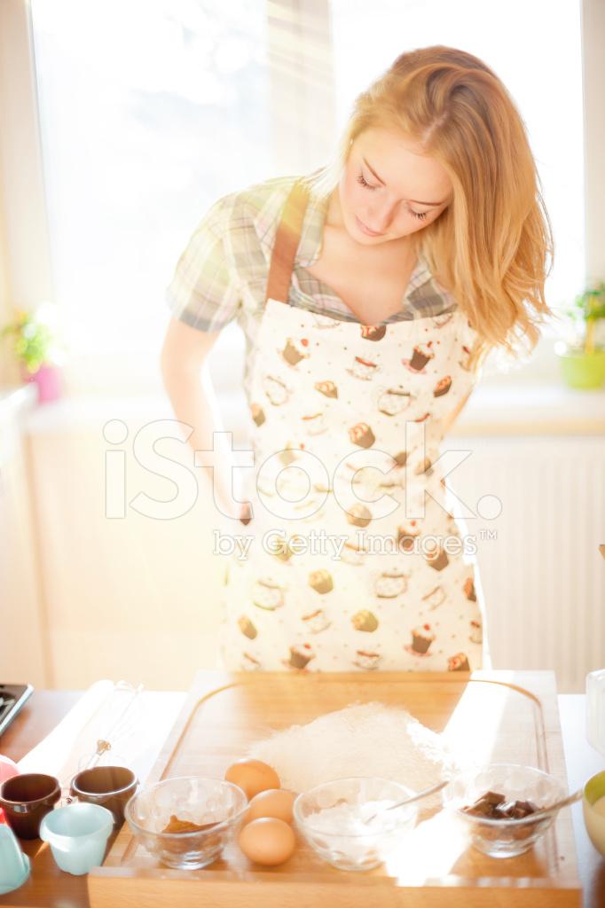Sexy Girl In Kitchen