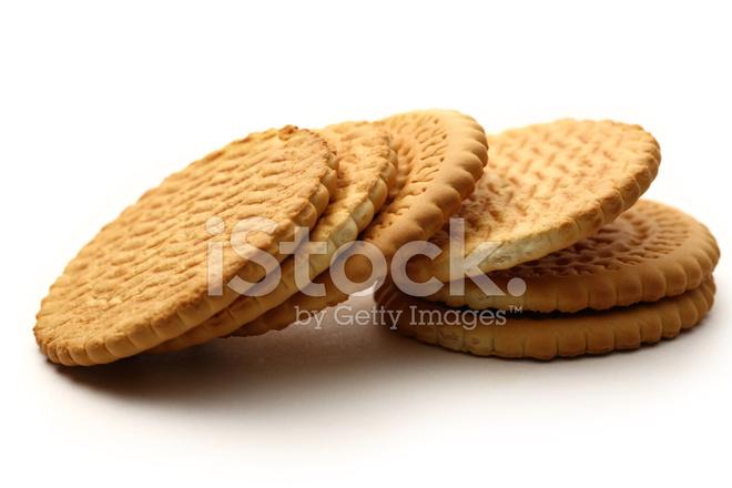 Biscotti Tondi Su Sfondo Bianco Fotografie Stock Freeimagescom