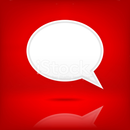 white speech bubble empty icon chat room sign red