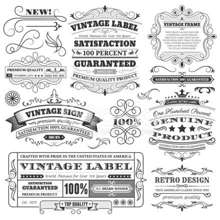 Etichette Depoca Cornici E Gli Elementi Di Design Con Copia Spazio
