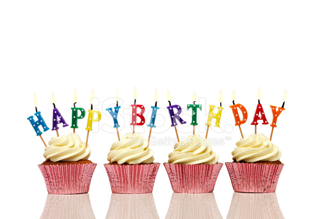 cupcake with lit birthday candles stock photos freeimages com
