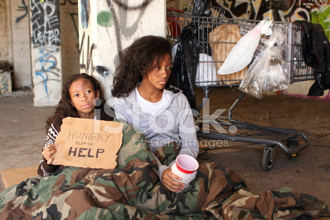homeless girls horizontal copy space right stock photos