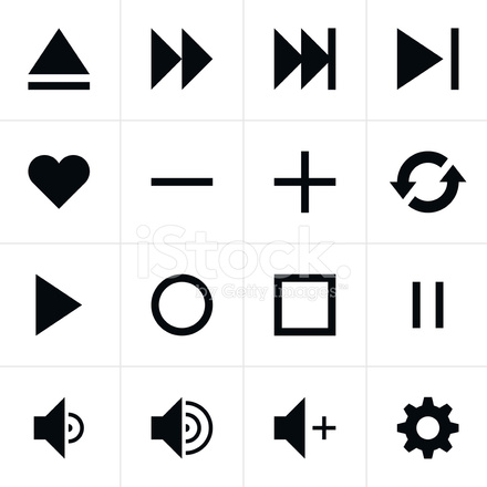 Black Sign Media Player Icon Web Button Simple Pictogram 857299 on simple gear cartoon