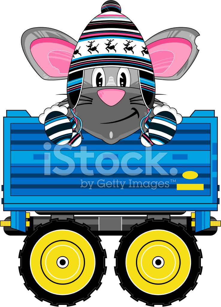 Cartoon Rat In Tractor Trailer Stock Vector Freeimagescom