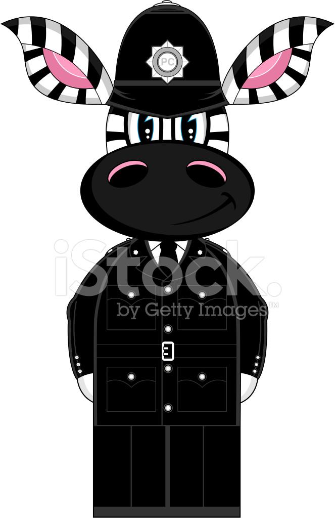 Simpatico cartone animato poliziotto zebra stock vector freeimages.com