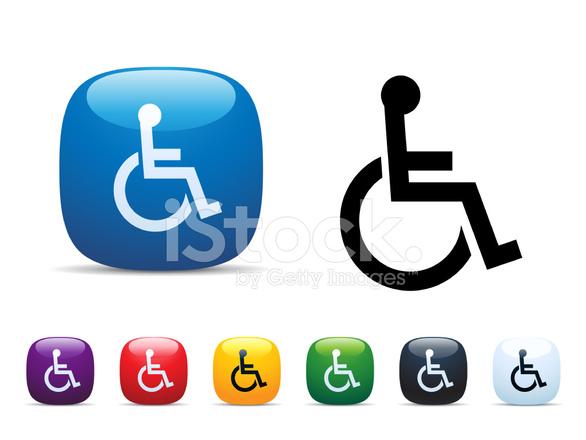Tekerlekli Sandalye Simge Seti Stock Vector Freeimagescom