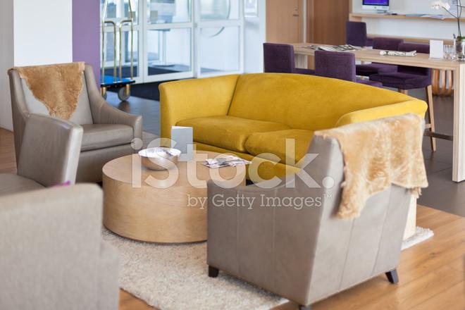 Luxury Hotel Lobby Interior At Scandinavian Style