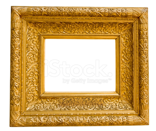 Vintage Gold Frame Isolated On White Stock Photos Freeimagescom