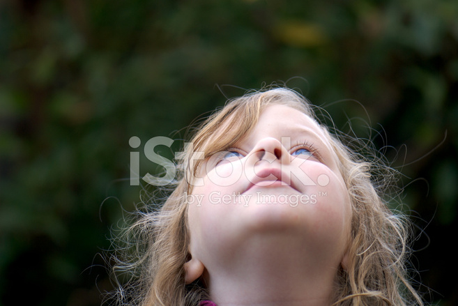Young Girl Looking Up Toward Sky Stock Photos Freeimages Com