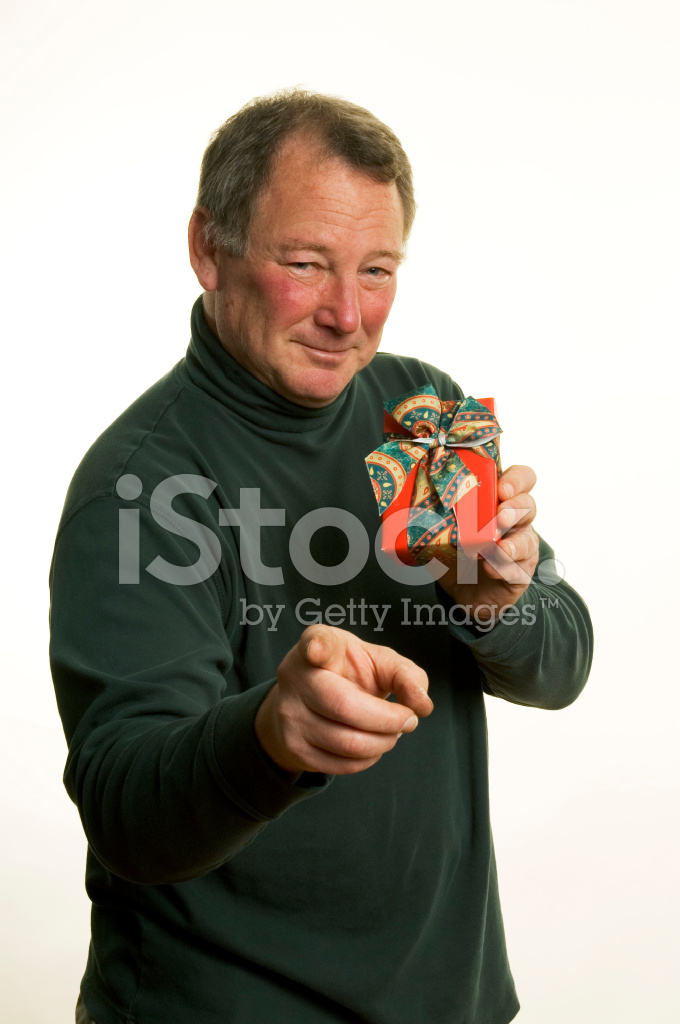 Mann MIT Weihnachtsgeschenk Stockfotos - FreeImages.com