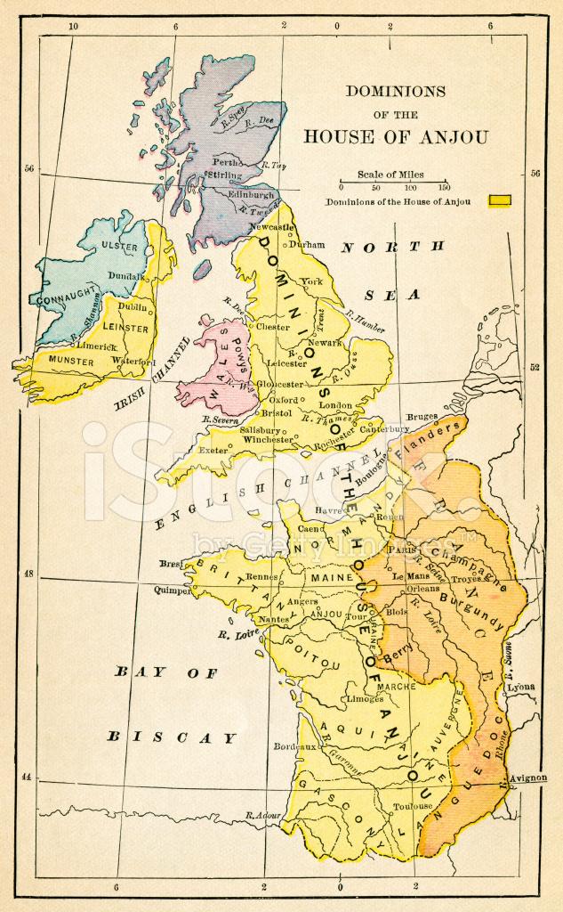 第 9 世紀の間にイギリスの地図 ...